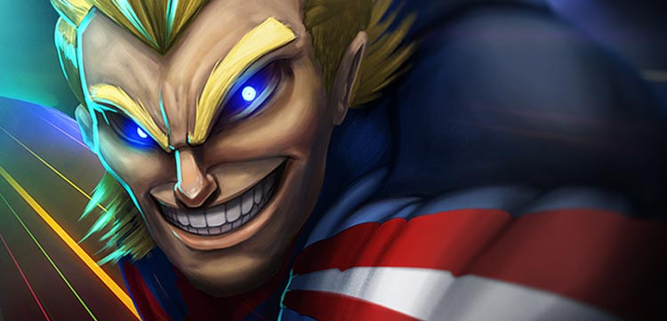 All Might Closeup Image