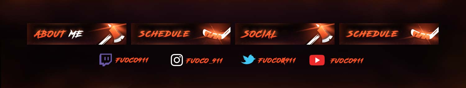 Fuoco911 Twitch Assets
