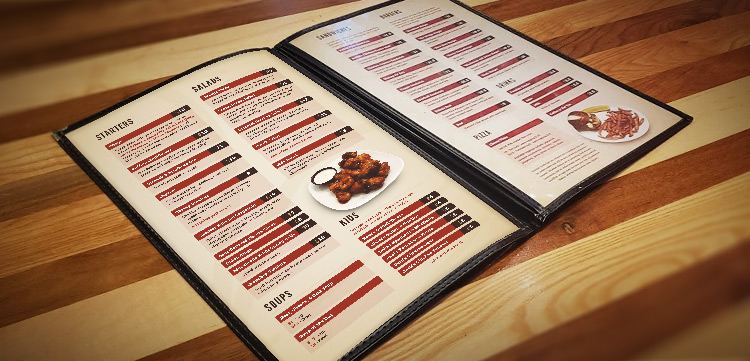 The Card Table Menu Inside